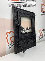 """Дверцы печные со стеклом """"BASTION"""" 370х510 Чугунные дверцы для печи кухни барбекю , фото 2"""