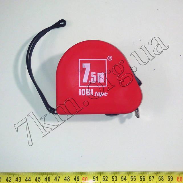 Рулетка 7.5м с автоматической блокировкой полотна  JOBI  Т127