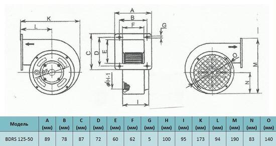 razmer bahcivan bdrs 125-50