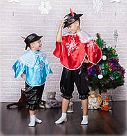 Детский карнавальный костюм Мушкетёр  красный синий(2 расцветки), фото 1