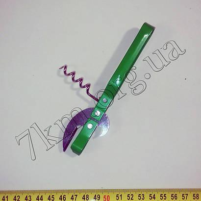 Консервный нож металический с штопором Т128