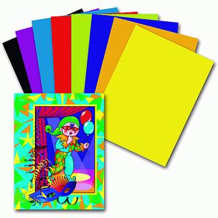 Цветная бумага, картоны и альбомы, клей