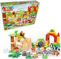 Детский конструктор Счастливый зоопарк с фигурками зверей 115 деталей
