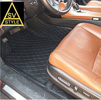 Коврики на Range Rover Sport Кожаные - 3D (2005-2013) Чёрные, фото 1