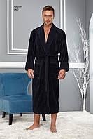 Халат мужской длинный без капюшона NS - 2965 Nusa синий bcd5720244305
