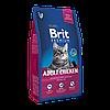Корм Brit Premium Cat Adult Chicken для взрослых кошек с курицей, 1,5 кг