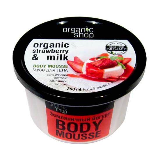"""Мусс для тела Земляничный йогурт Organic Shop (Органик Шоп) - """"ЛюксРяд"""" - парфюмерия и косметика премиум качества в Киеве"""
