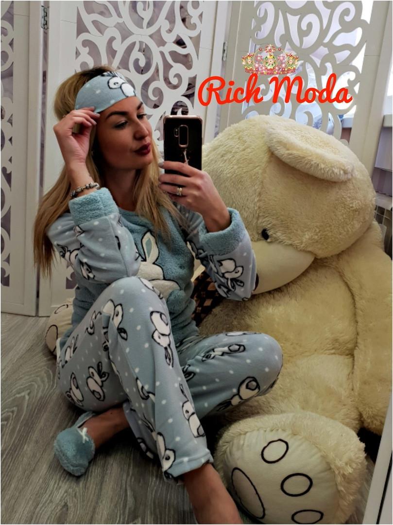 28a0ab05f5e18 Махровая пижама женская Турция 17508 - Интернет-магазин