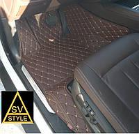Коврики в салон Range Rover Sport Кожаные - 3D (кузов №1 / 2005-2013) Кофейные, фото 1
