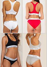 Женское нижнее белье Calvin Klein слипы 3 шт. реплика, фото 2