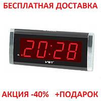Электронные часы с будильником VST 731T-1, настольные, светодиодная красная подсветка, оригинальный дизайн