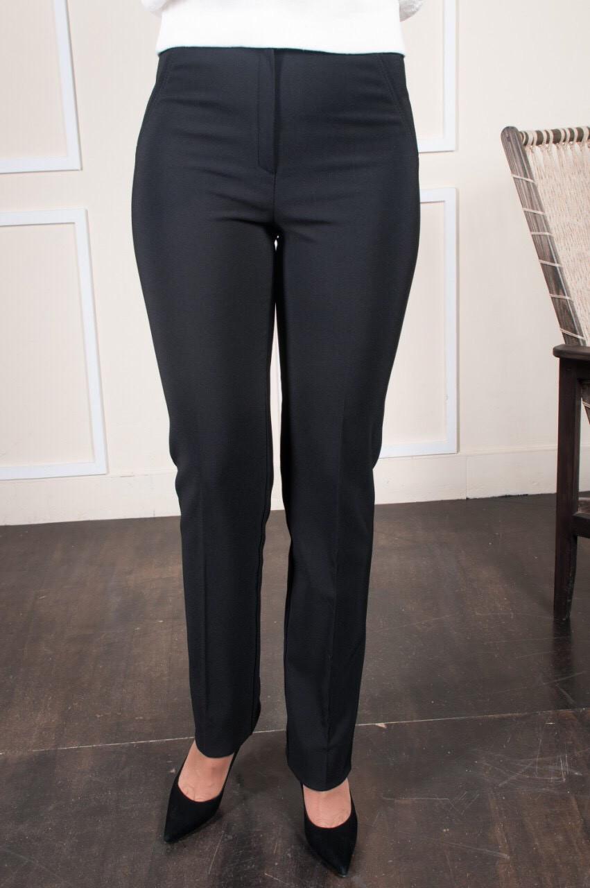 Классические женские брюки на байке Шарлота чёрного цвета