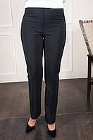 Классические женские брюки на байке Шарлота чёрного цвета, фото 1