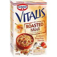 Запеченные мюсли Dr.Oetker Vitalis с клубникой  и ванилью, 450 г