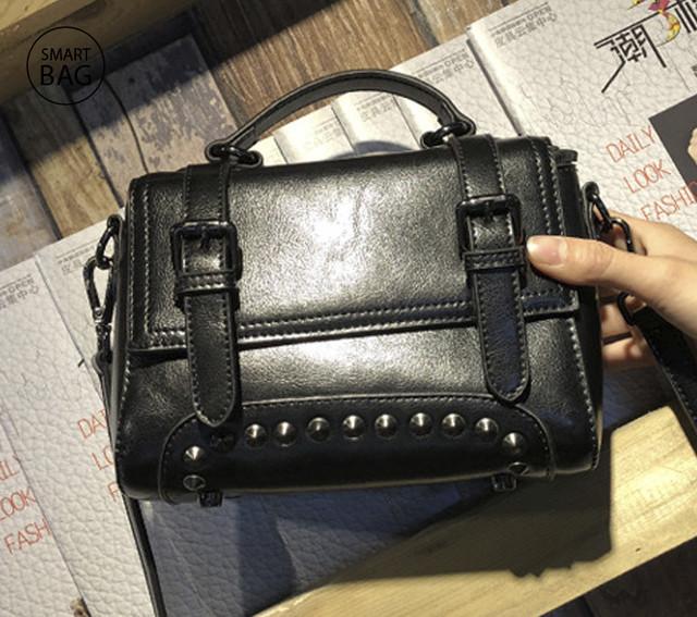 Женская кожаная сумочка мини | черная