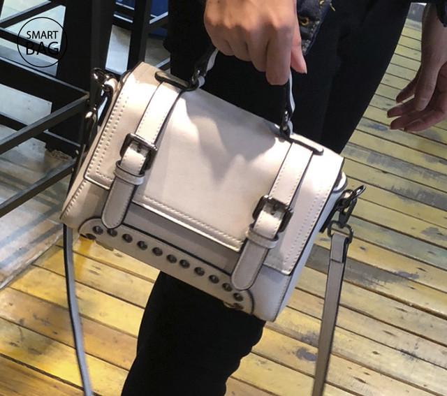 Женская кожаная сумочка мини | белая