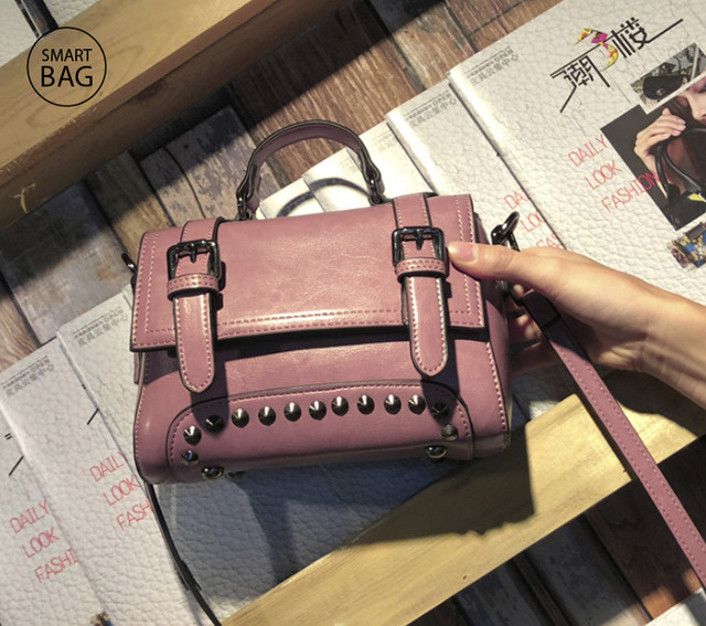 Женская кожаная сумочка мини | розовая