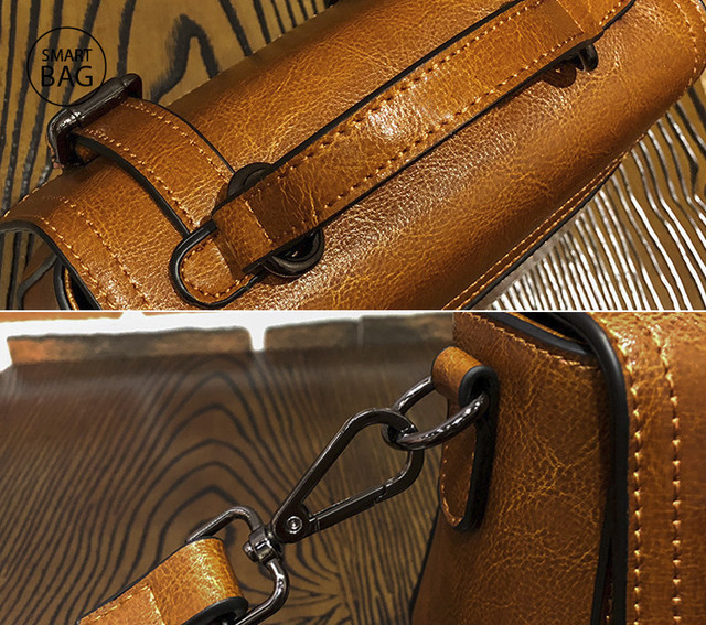 Женская кожаная сумочка мини | коричневая