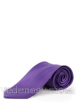 Галстук классический фиолетовый