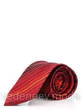 Галстук красно-бордовый в диагональную полоску