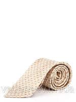 Светлый галстук с серо-коричневым диагональным рисунком