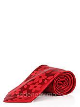 Красный галстук в цветочный принт