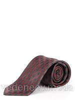 Бордовый галстук с геометрическим принтом