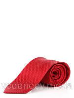Красный галстук из микрофибры в диагональный зиг-заг