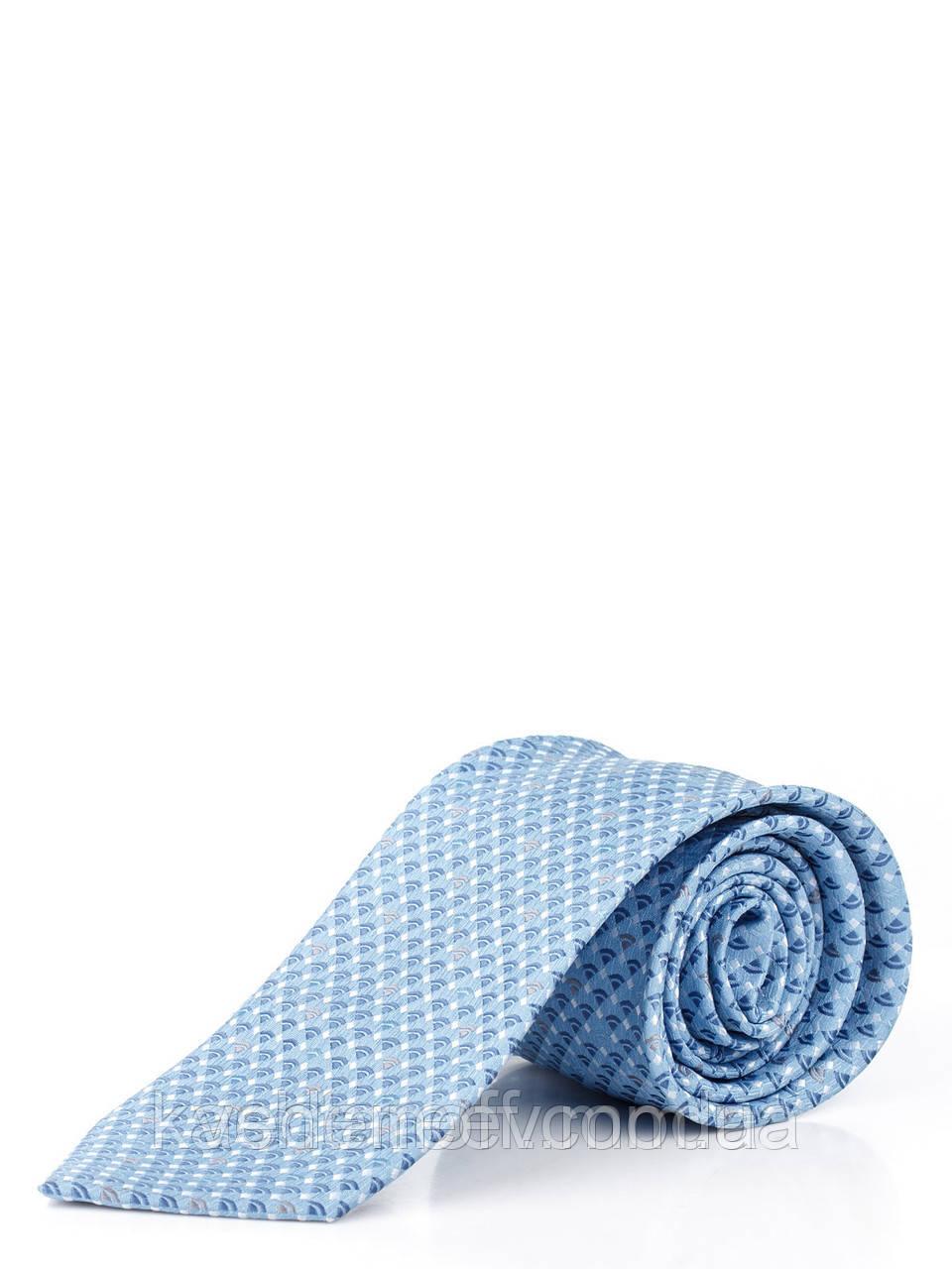 Краватка блакитна в діагональну луску