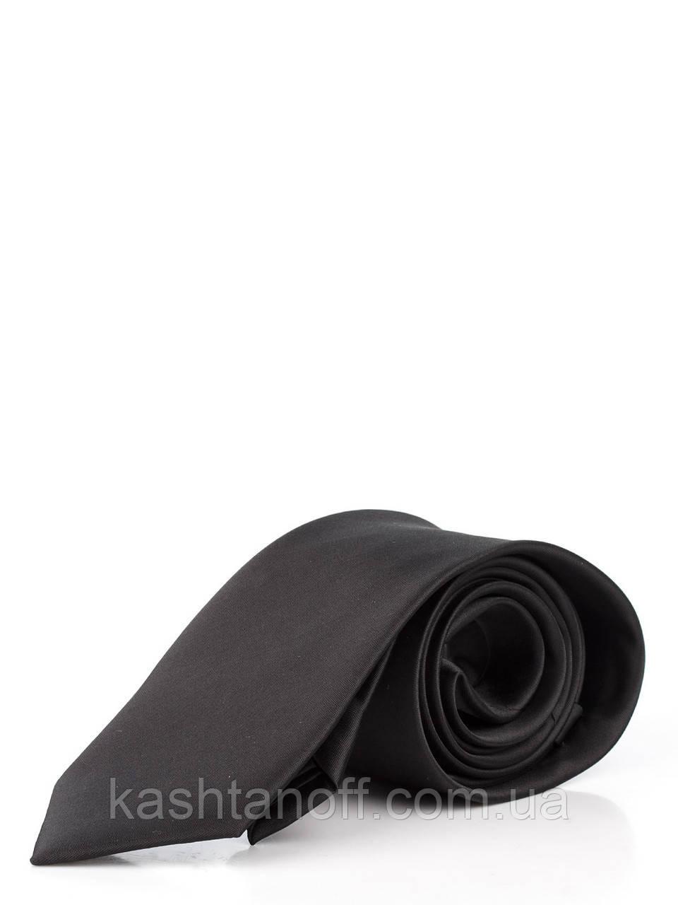 Галстук классический черный