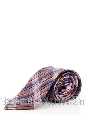 Пестрый галстук в цветную полоску