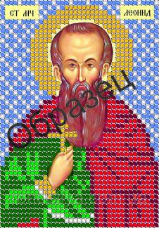 Схема для вышивки бисером «Святой Леонид»