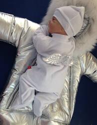 Зимний набор на выписку Космонавт+Angel (серебро)