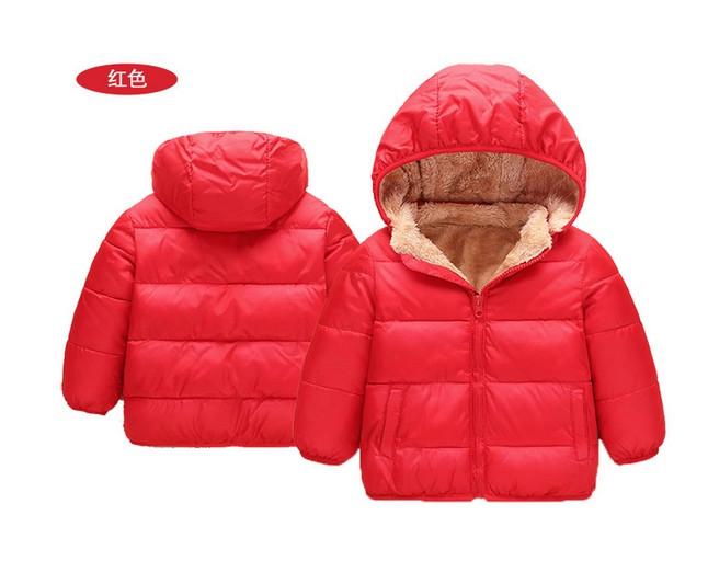 Куртка детская демисезонная  унисекс красная на меху 130р