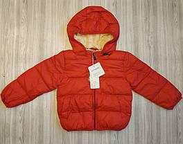 Куртка детская демисезонная  унисекс красная на меху 130р, фото 3