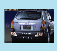 Накладка на задний бампер Hyundai Tucson (пластик)