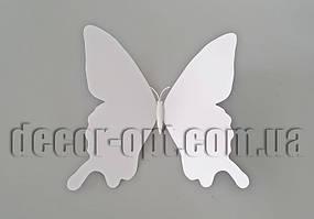 Бабочка белая на магните 15 см 3D Decoration