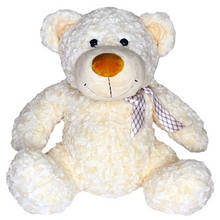 М'яка іграшка Grand Ведмідь білий з бантом 25 см g2503GMG