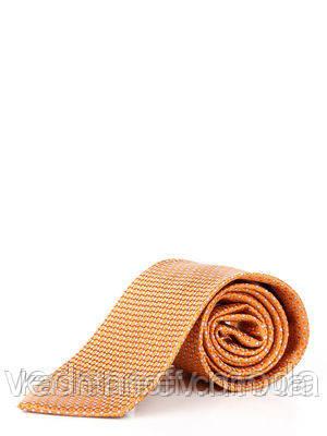 Галстук оранжево-серый