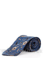 Синий галстук из микрофибры в цветочный принт