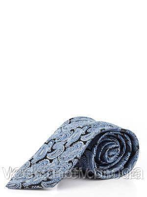 Галстук из микрофибры, черный в турецкие огурцы