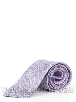 Сиреневый галстук с абстрактным рисунком