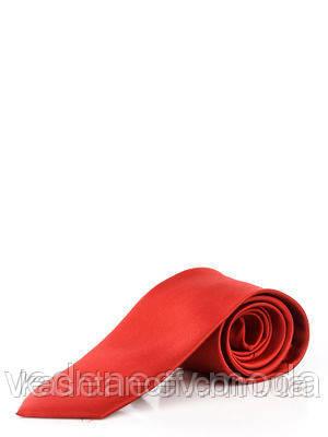 Галстук узкий красный , микрофибра высокого качества