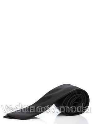 Галстук узкий черный ,100 % шелк высокого качества