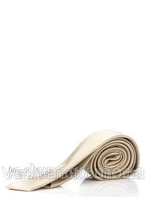 Светло-коричневый узкий галстук, 100 % шелк высокого качества