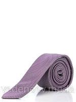 Узкий сиреневый галстук, 100 % шелк высокого качества