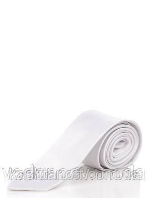 Узкий галстук цвета слоновой кости, 100 % шелк высокого качества
