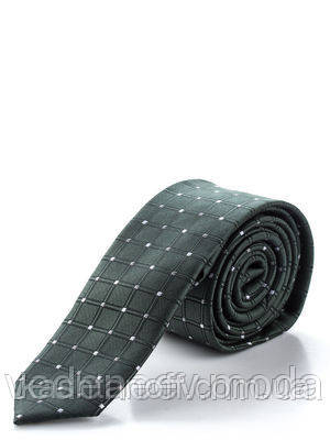 Узкийй темно-зеленый галстук, высококачественная микрофибра