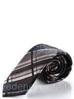 Узкий черно-коричневый галстук, 100 % жакардовый шелк высокого качества