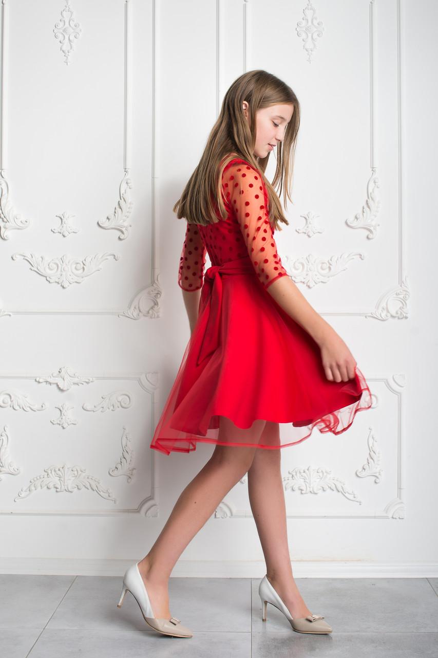 d802f2ceb52 ... Нарядное красное платье для девочки-подростка 38